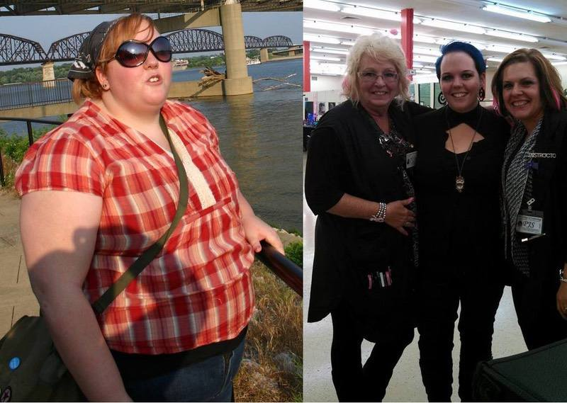 5 foot 7 Female Before and After 147 lbs Fat Loss 350 lbs to 203 lbs