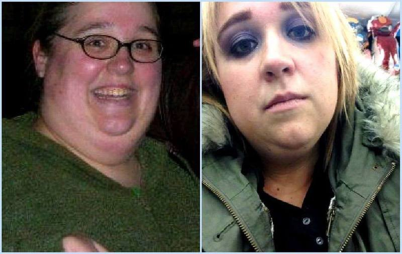 90 lbs Weight Loss Before and After 5 foot 4 Female 361 lbs to 271 lbs