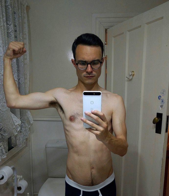 5 foot 7 Male Progress Pics of 2 lbs Weight Gain 125 lbs to 127 lbs