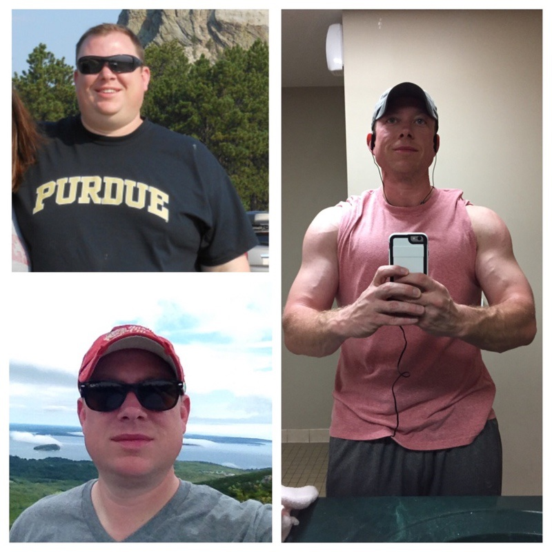 6'2 Male Before and After 150 lbs Weight Loss 375 lbs to 225 lbs