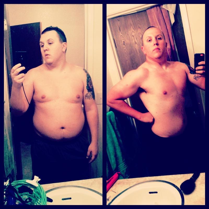 5 foot 11 Male 40 lbs Weight Loss 252 lbs to 212 lbs