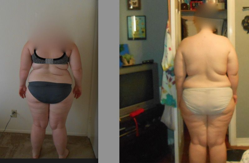 35 lbs Fat Loss Before and After 5 feet 4 Female 251 lbs to 216 lbs