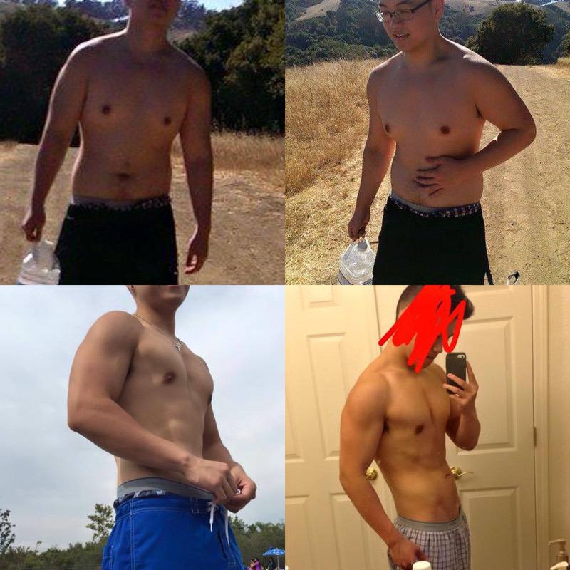 5'10 Male Before and After 50 lbs Fat Loss 220 lbs to 170 lbs