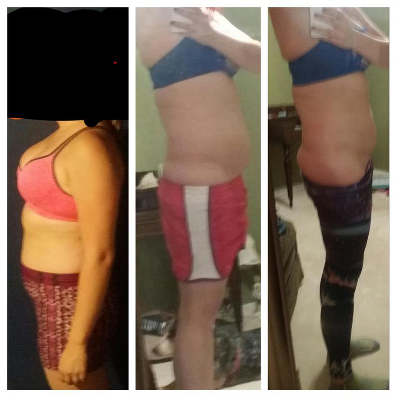 18 lbs Weight Loss Before and After 5'7 Female 188 lbs to 170 lbs