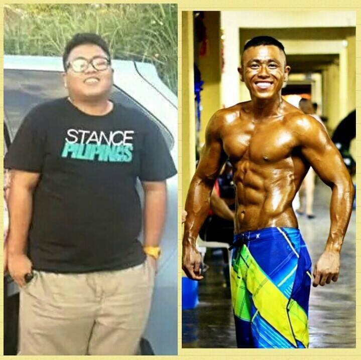 Before and After 106 lbs Weight Loss 5 foot 6 Male 256 lbs to 150 lbs