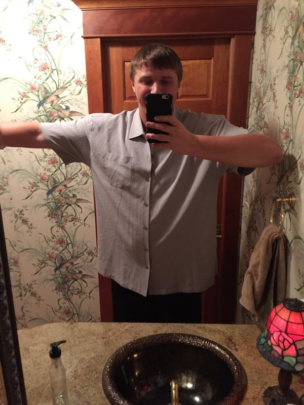 Before and After 50 lbs Weight Loss 6 foot 6 Male 330 lbs to 280 lbs