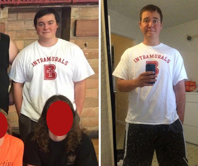 44 lbs Fat Loss 5 feet 7 Male 240 lbs to 196 lbs