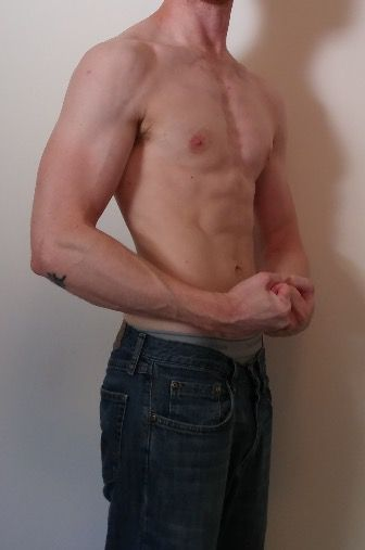 Before and After 10 lbs Muscle Gain 5 feet 10 Male 140 lbs to 150 lbs