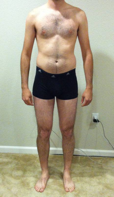 4 Photos of a 6 foot 1 165 lbs Male Weight Snapshot