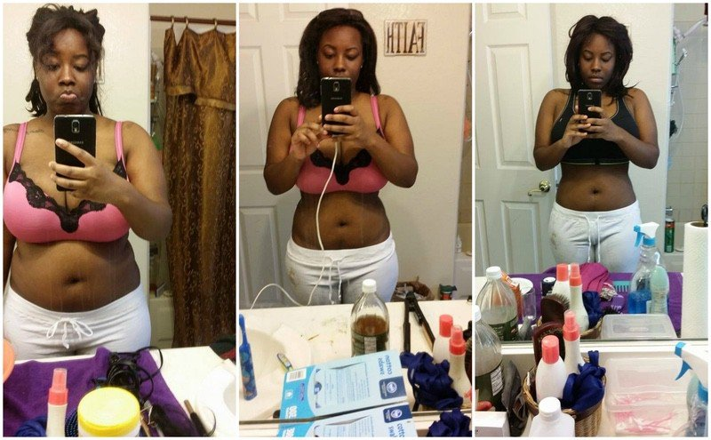 Before and After 24 lbs Fat Loss 5 feet 4 Female 193 lbs to 169 lbs