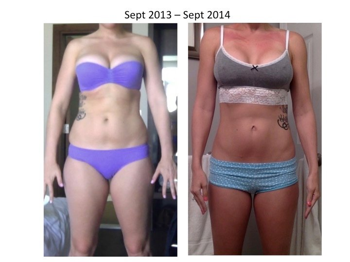 5 foot 10 Female Before and After 26 lbs Fat Loss 175 lbs to 149 lbs