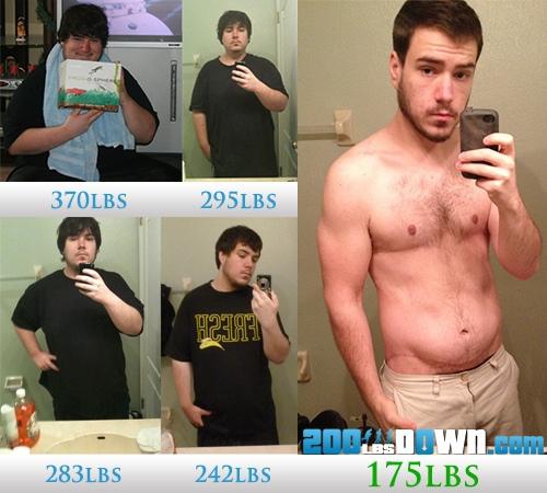 5 foot 10 Male Progress Pics of 195 lbs Fat Loss 370 lbs to 175 lbs