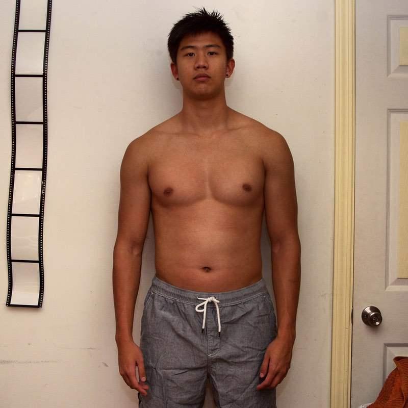 Progress Pics of 35 lbs Weight Gain 6 foot 2 Male 150 lbs to 185 lbs