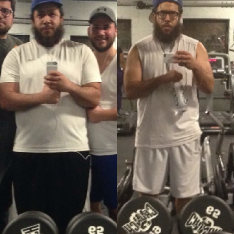 Before and After 26 lbs Weight Loss 5 foot 10 Male 510 lbs to 484 lbs