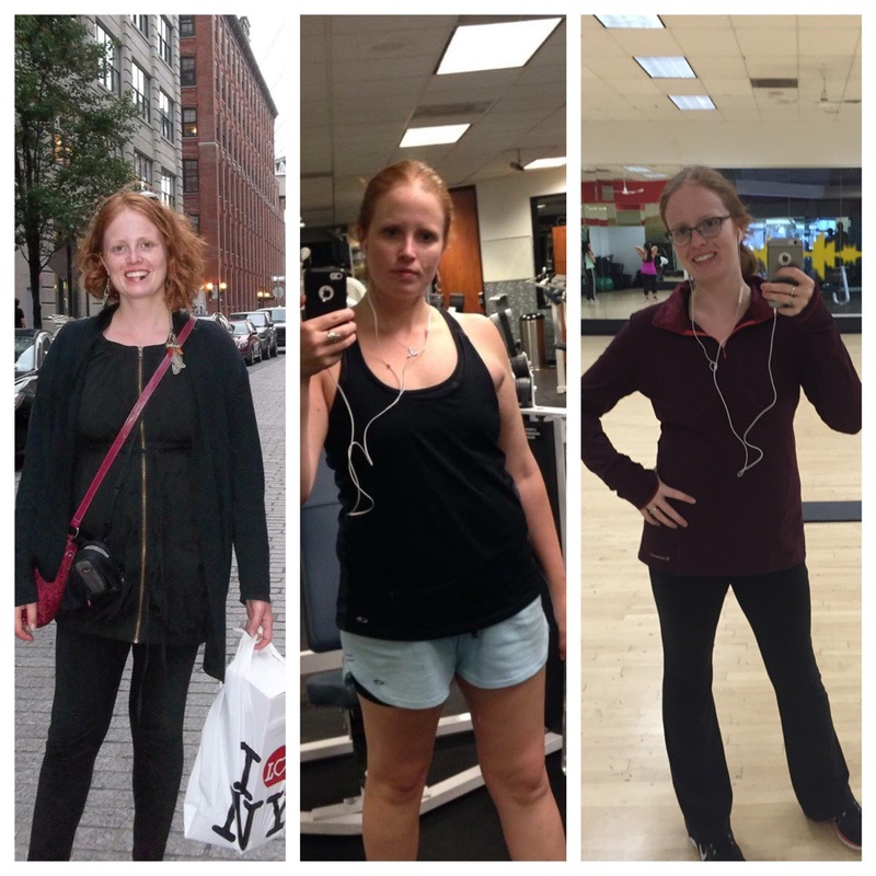 Before and After 15 lbs Weight Loss 5'9 Female 175 lbs to 160 lbs