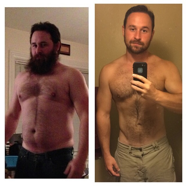 5 feet 9 Male 45 lbs Fat Loss Before and After 220 lbs to 175 lbs