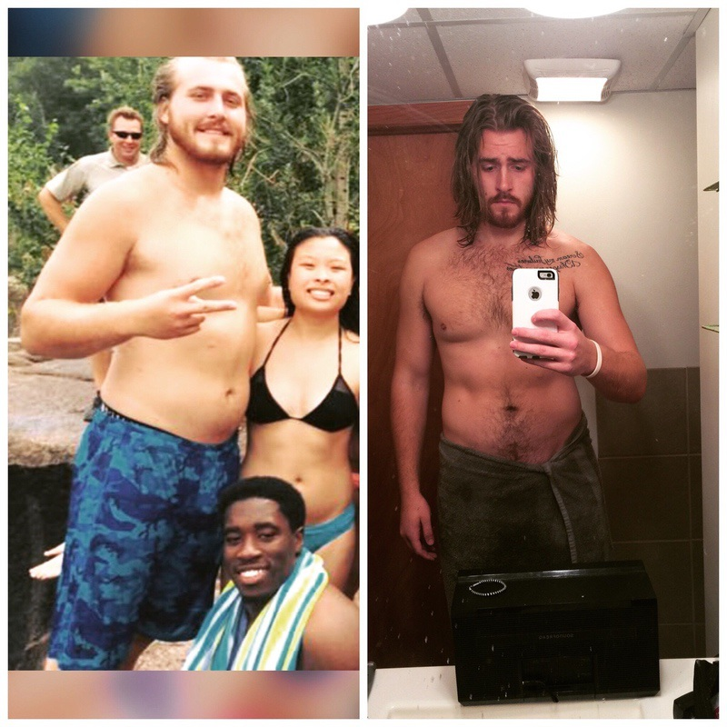 6 feet 8 Male 55 lbs Weight Loss Before and After 300 lbs to 245 lbs
