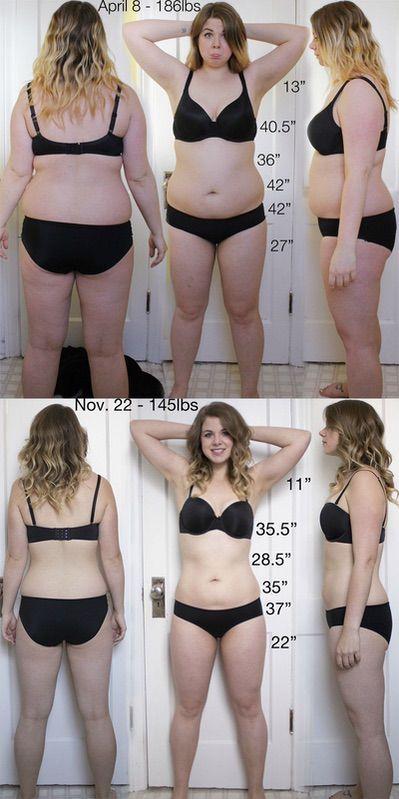 5 feet 6 Female Progress Pics of 41 lbs Fat Loss 186 lbs to 145 lbs