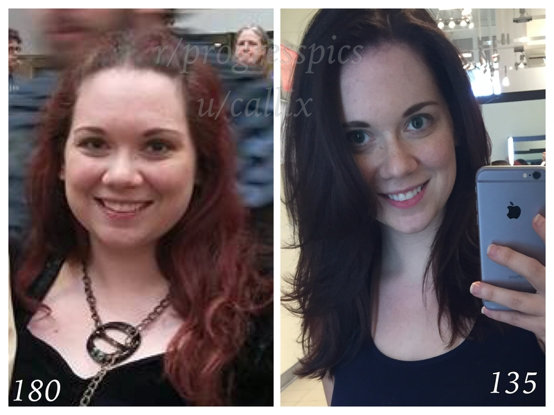 45 lbs Weight Loss 5 feet 1 Female 180 lbs to 135 lbs