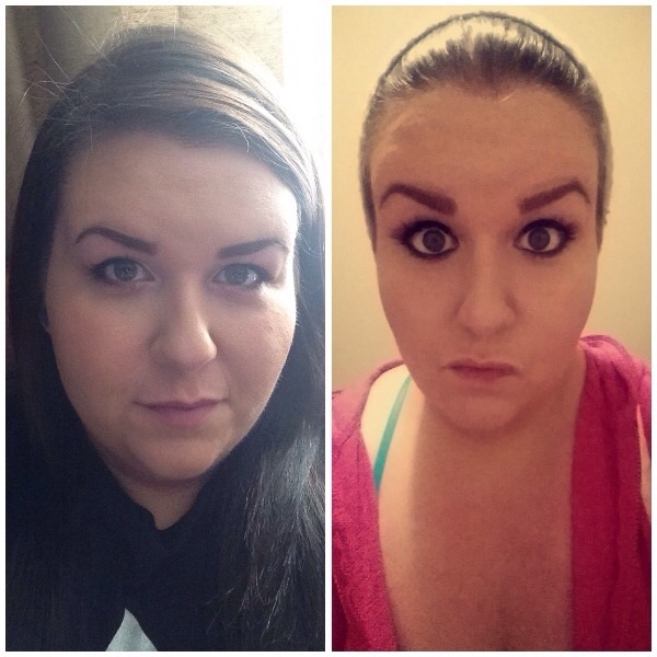 Before and After 51 lbs Weight Loss 5'7 Female 378 lbs to 327 lbs