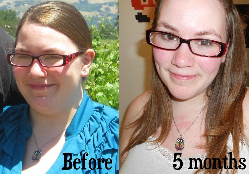5 feet 2 Female 148 lbs Fat Loss Before and After 270 lbs to 122 lbs