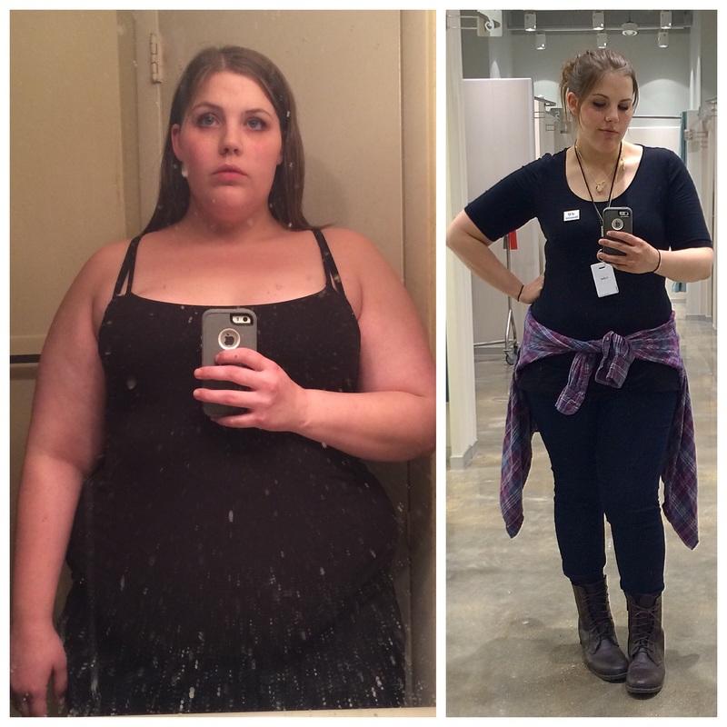 5 feet 6 Female Progress Pics of 82 lbs Fat Loss 287 lbs to 205 lbs