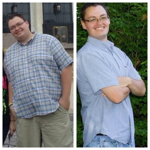 6 foot 2 Male 120 lbs Fat Loss Before and After 325 lbs to 205 lbs