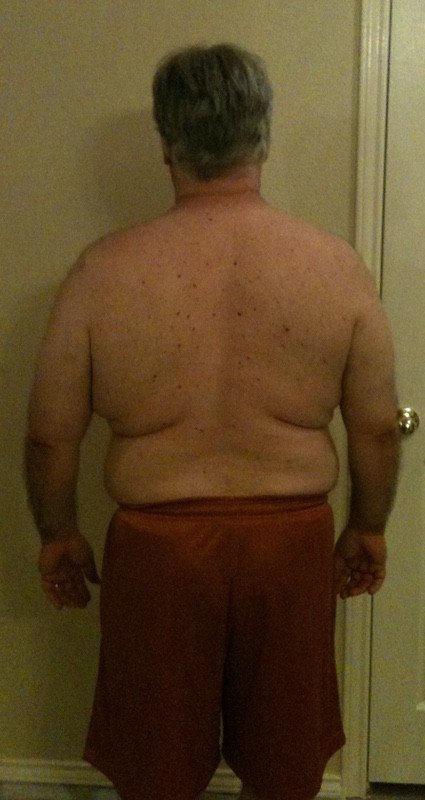 4 Pictures of a 250 lbs 5 feet 7 Male Weight Snapshot