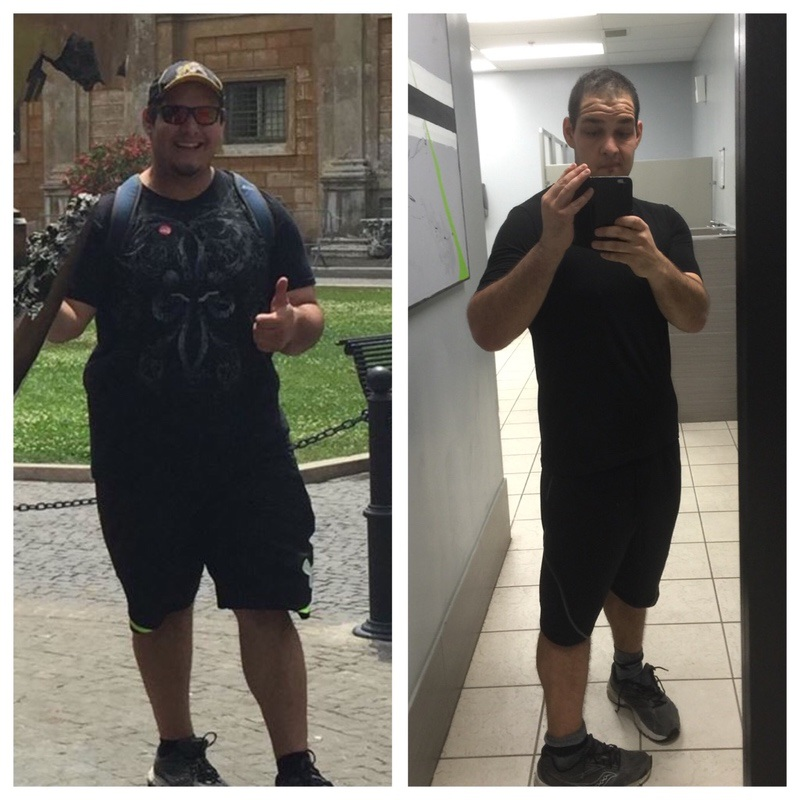 6 foot 1 Male Before and After 128 lbs Weight Loss 374 lbs to 246 lbs