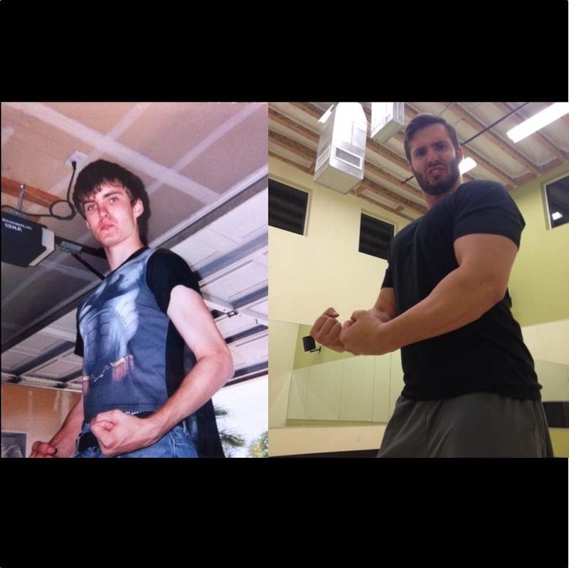 Progress Pics of 90 lbs Weight Gain 6 foot Male 130 lbs to 220 lbs