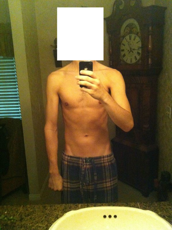 6 feet 4 Male Before and After 26 lbs Weight Gain 165 lbs to 191 lbs