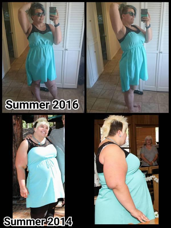 Progress Pics of 106 lbs Weight Loss 5'9 Female 351 lbs to 245 lbs