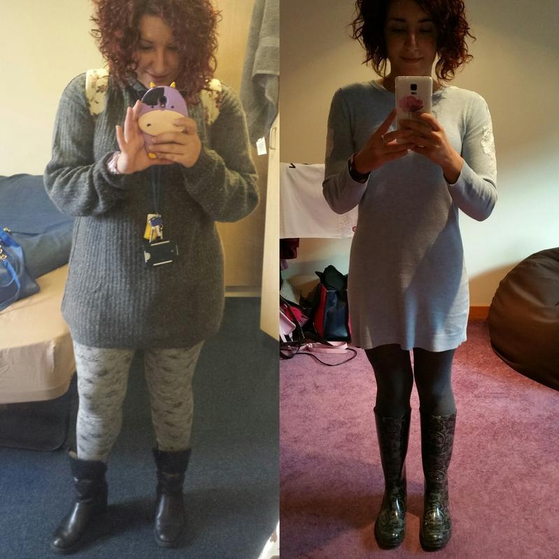 Progress Pics of 56 lbs Fat Loss 5 foot Female 177 lbs to 121 lbs