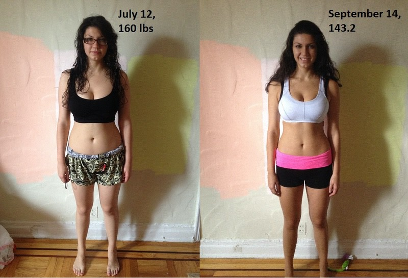 17 lbs Weight Loss 5 foot 8 Female 160 lbs to 143 lbs
