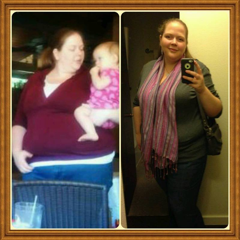 Before and After 39 lbs Fat Loss 6 foot Female 340 lbs to 301 lbs