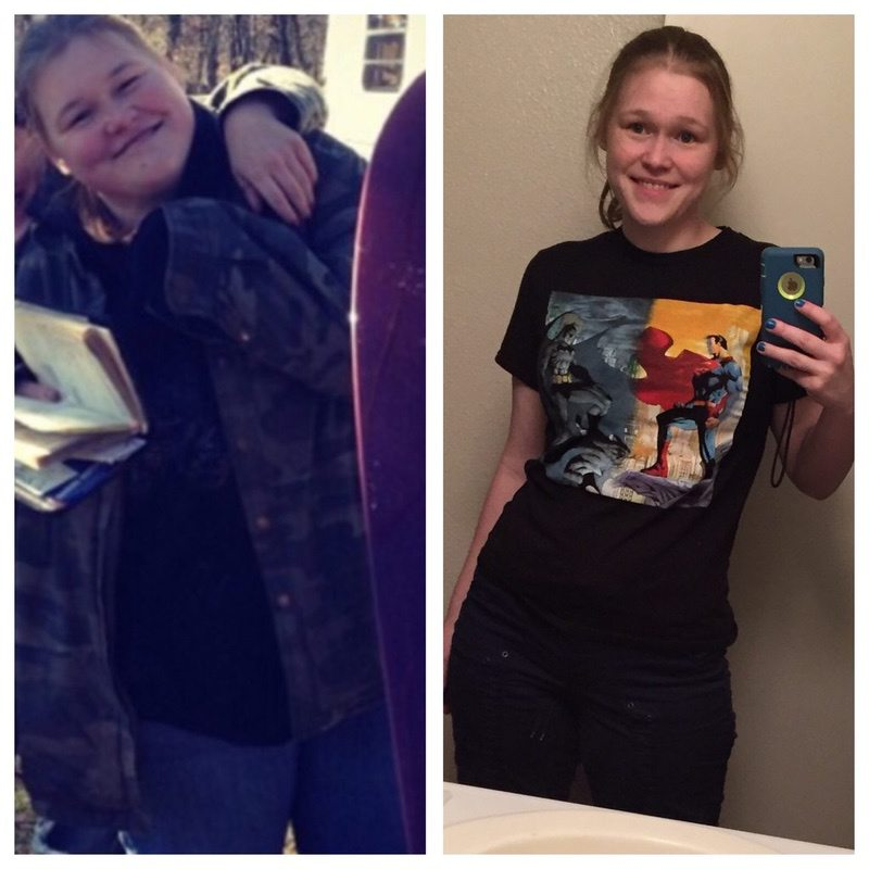 125 lbs Fat Loss Before and After 5'8 Female 285 lbs to 160 lbs
