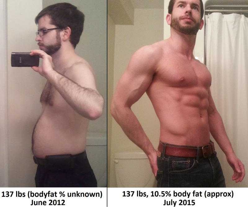 2 Pics of a 137 lbs 5'4 Male Weight Snapshot