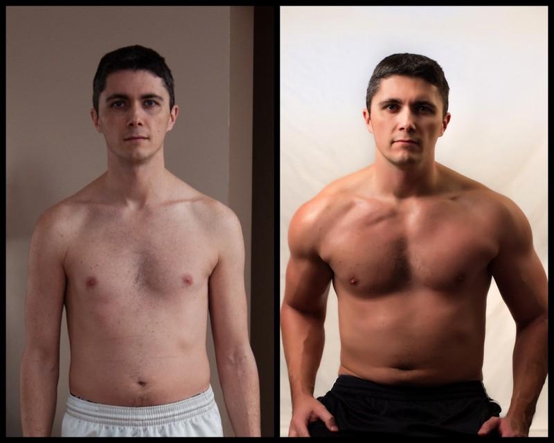 6'2 Male Progress Pics of 33 lbs Weight Gain 162 lbs to 195 lbs