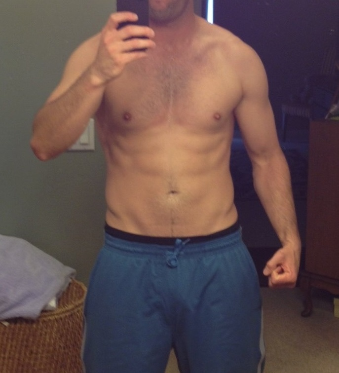 1 Pictures of a 195 lbs 6 foot Male Weight Snapshot