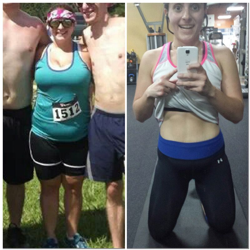 5'3 Female 50 lbs Fat Loss Before and After 183 lbs to 133 lbs