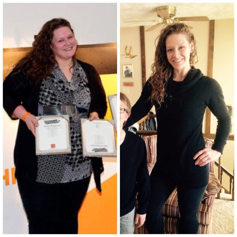 5'11 Female Before and After 185 lbs Fat Loss 355 lbs to 170 lbs
