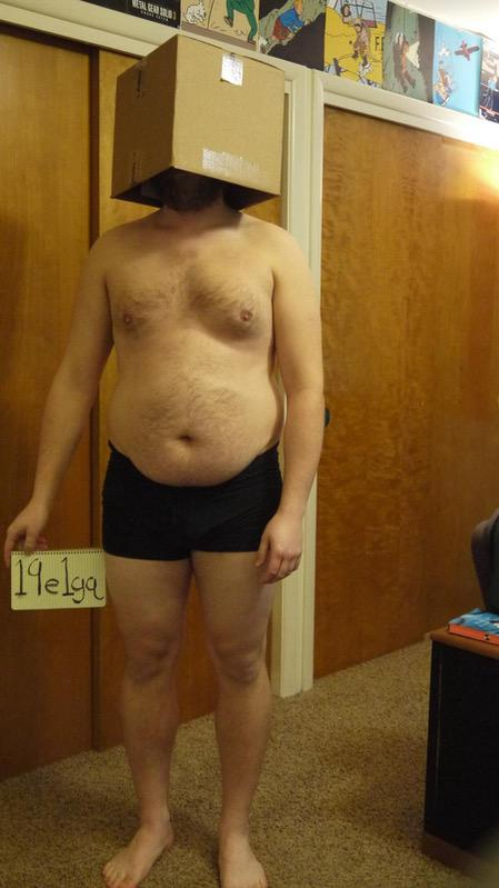 5 Pictures of a 225 lbs 5 feet 10 Male Weight Snapshot