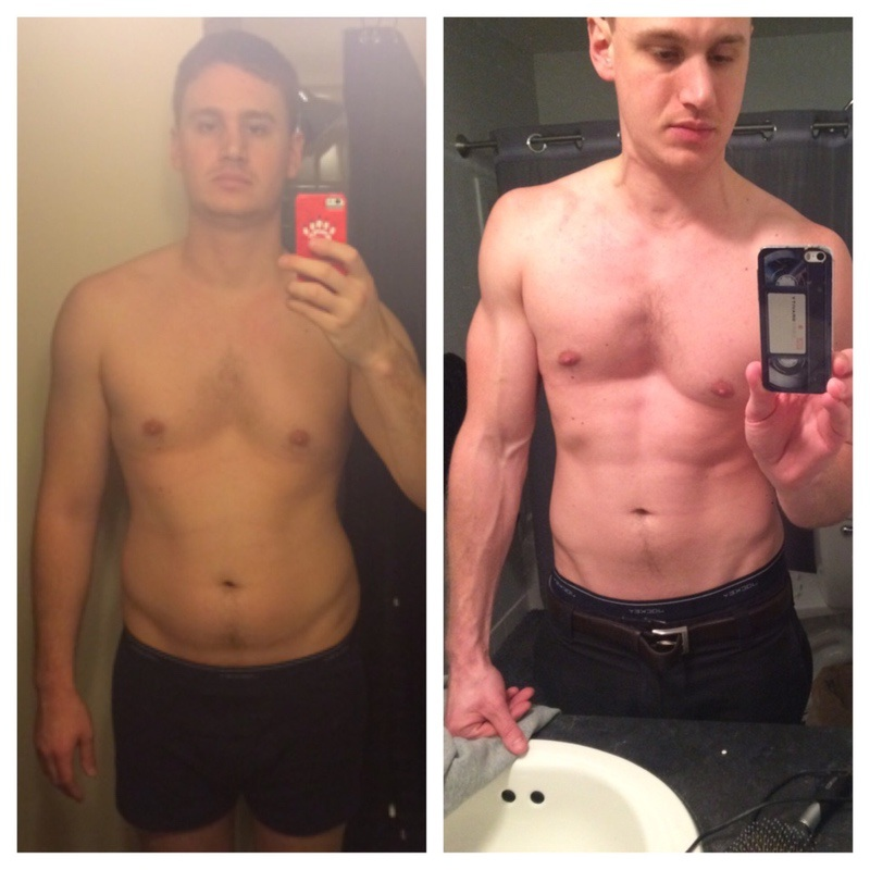 Before and After 40 lbs Weight Loss 6'5 Male 245 lbs to 205 lbs