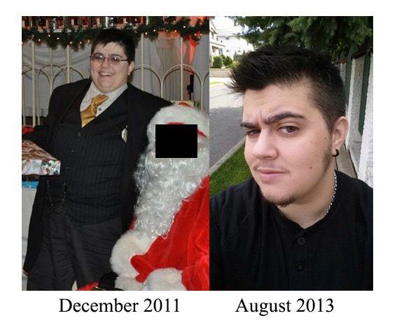 40 lbs Fat Loss 5'2 Male 220 lbs to 180 lbs