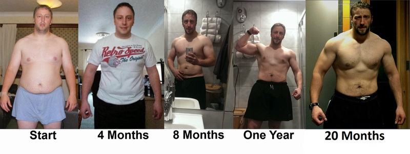 5 feet 10 Male Before and After 69 lbs Fat Loss 259 lbs to 190 lbs