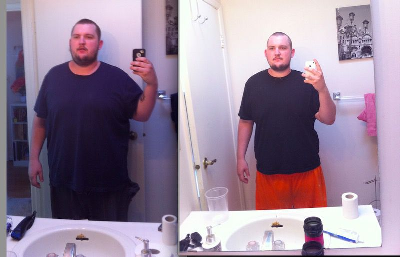 51 lbs Fat Loss 5 foot 11 Male 350 lbs to 299 lbs