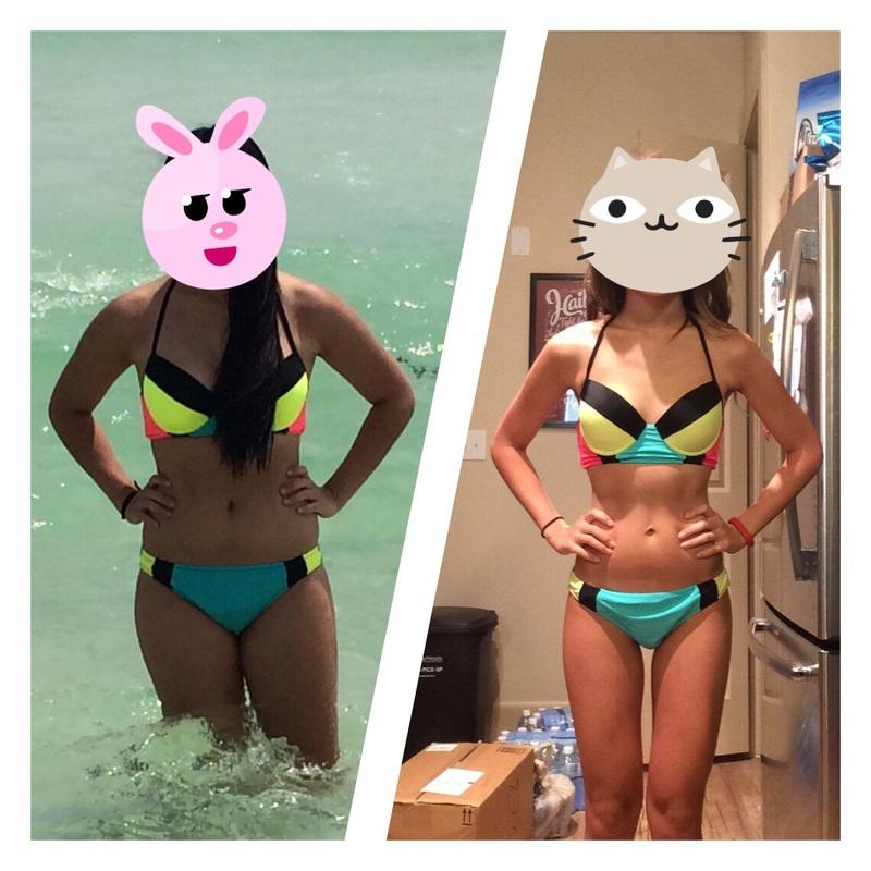 Progress Pics of 25 lbs Fat Loss 5 feet 4 Female 130 lbs to 105 lbs
