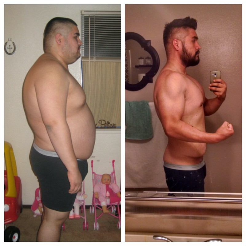 101 lbs Fat Loss Before and After 6 foot Male 327 lbs to 226 lbs