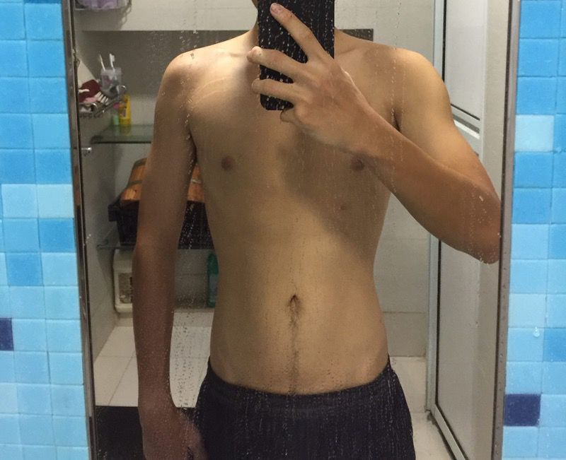 3 Pics of a 127 lbs 5 feet 6 Male Fitness Inspo