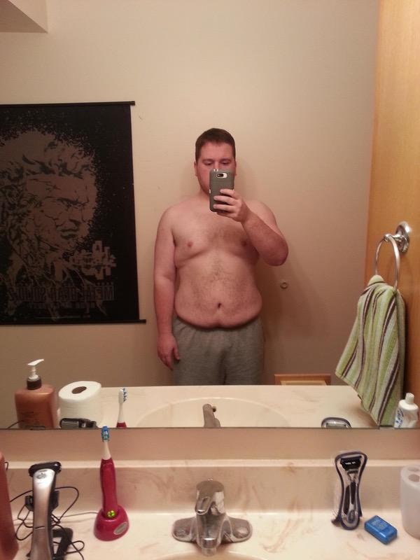 5 feet 6 Male Before and After 82 lbs Fat Loss 300 lbs to 218 lbs